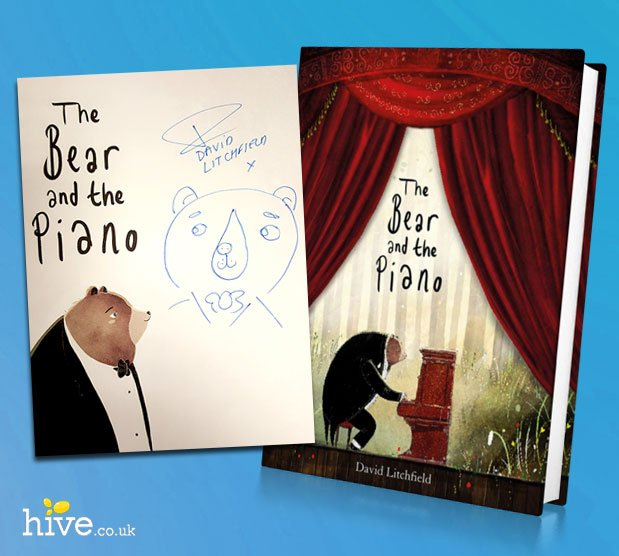 Win a signed copy of David Litchfield's 'The Bear and the Piano!'   Just RT & Follow to win