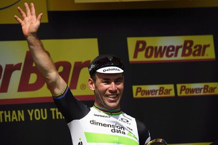 He has done it again! @MarkCavendish wins stage 3 of @LeTour. Congratulations. #TDF2016 @Qhubeka @TeamDiData https://t.co/sewTqmX9Tj