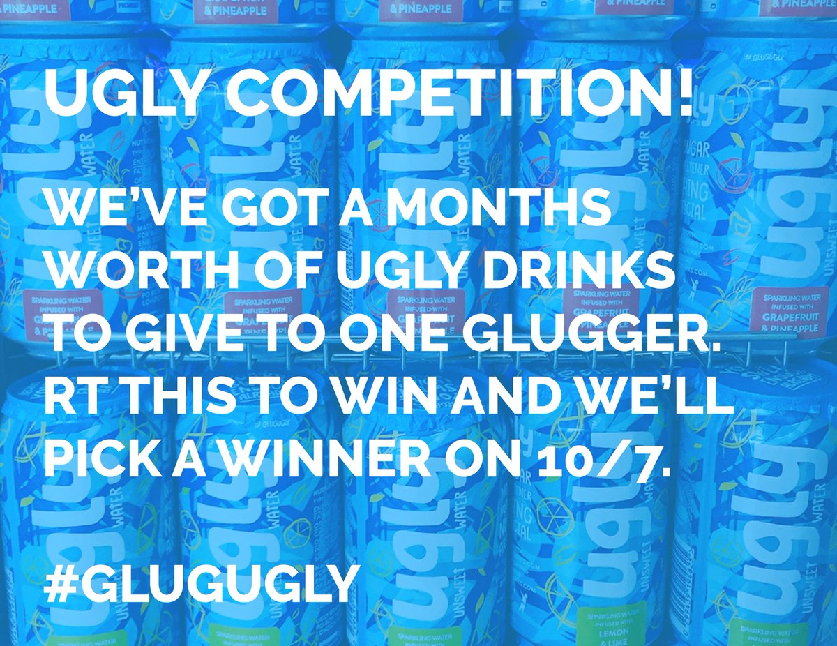Our pals @uglydrinks will give 48 cans of their epic drinks to 1 lucky Glugger. RT this photo to win 'em! #GlugUgly https://t.co/iAHDoKsCRp