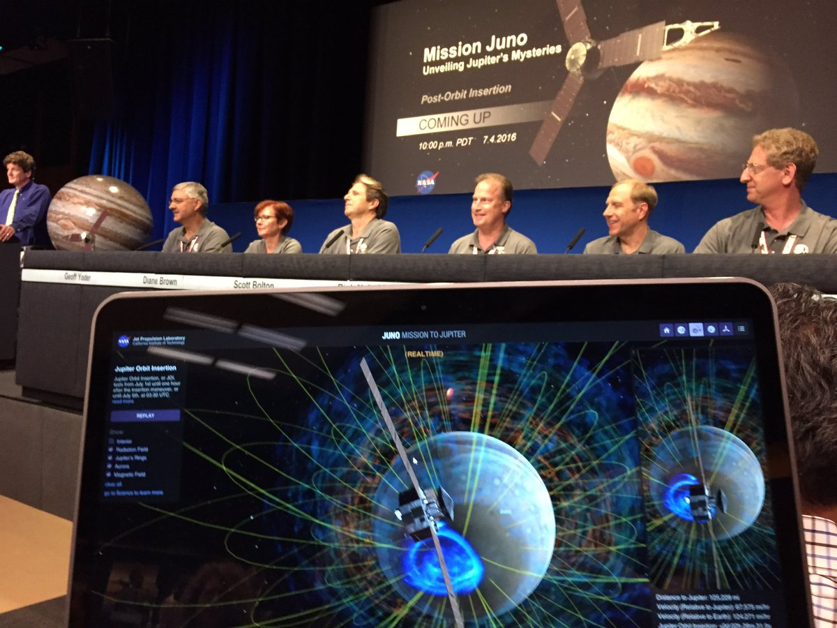 Congrats to @NASAJuno for a successful orbit insertion!! https://t.co/g6qn8gB3B7