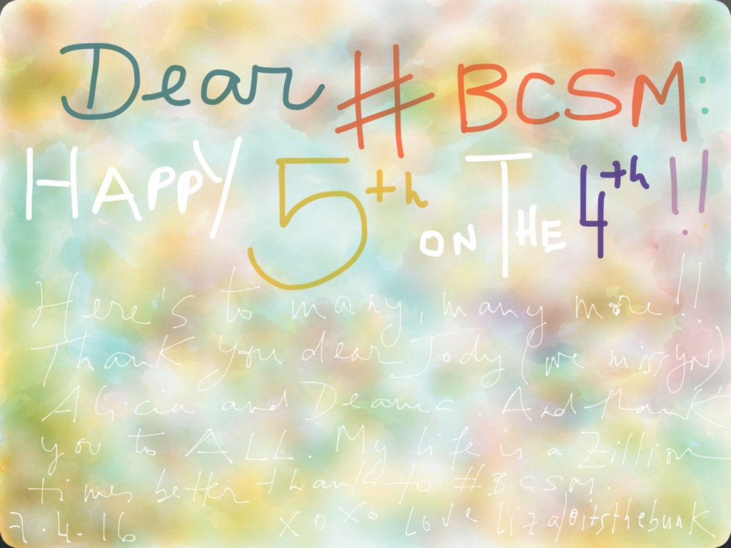 @stales @DrAttai and all of #bcsm: Happy 5th on the 4th!!!!! Xoxoxoxoxoxoxo https://t.co/9zk7sBZ2VK