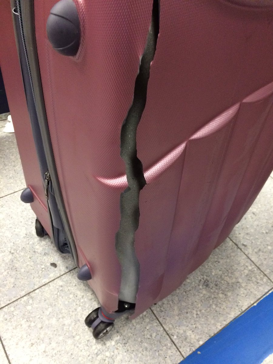 Got my suit case off @jet2tweets from @manairport from Rhodes. Not even a case anymore