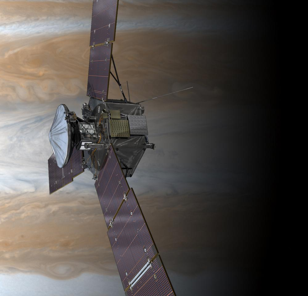 #Juno turned back toward the sun, has power and started its tour of #Jupiter in an initial 53.5-day orbit