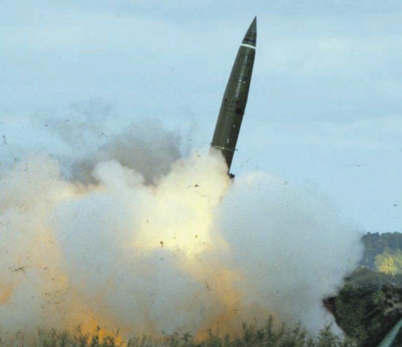 صاروخ Tochka البالستي قصير المدى  CmlLbWJWIAADRWr