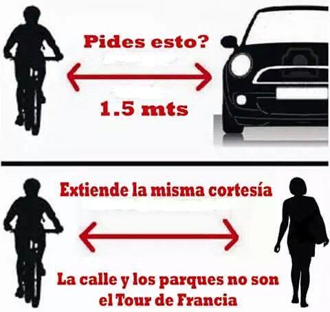 #FelizJueves ¿Circulas en bici para ahorrar/hacer deporte/divertirte/no contaminar/evitar atascos? #Genial, pero no olvides que las normas también son para ti👌👌👌 Photo