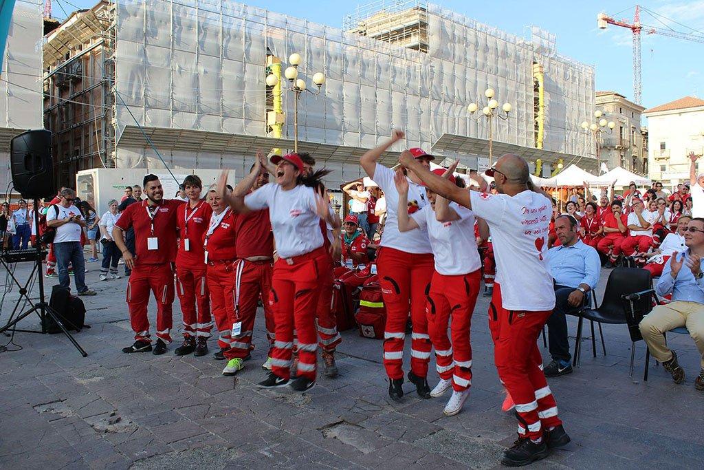 La Croce Rossa abruzzese torna nella città di L'Aquila