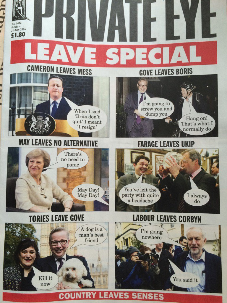 "Private Eye ""leave"" special https://t.co/KNW6VHoEVm"