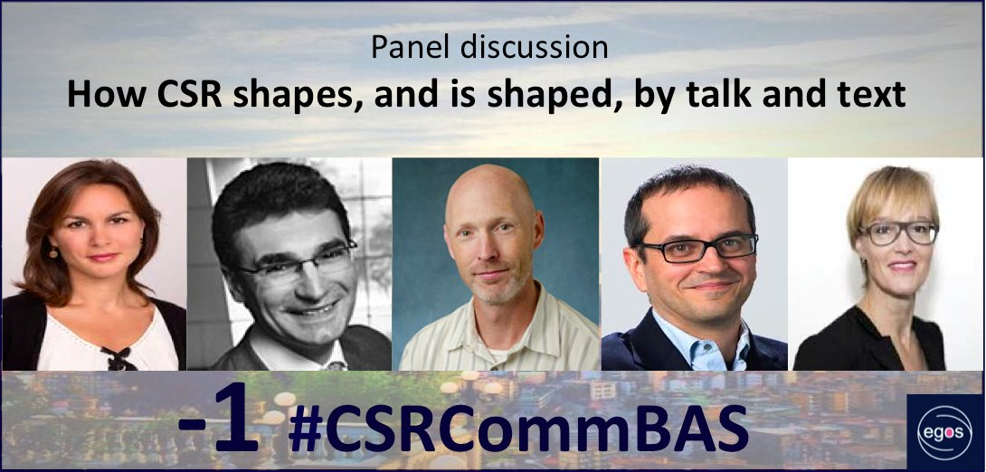 Looking forward to meet #CSRCommBAS participants tomorrow. We will start with a great panel discussion #Egos2016 https://t.co/EFmEsnHjhu