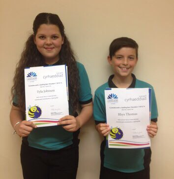 Good luck Tyla and Rhys in today's German Spelling Bee Final in Aberystwyth! #welshbee