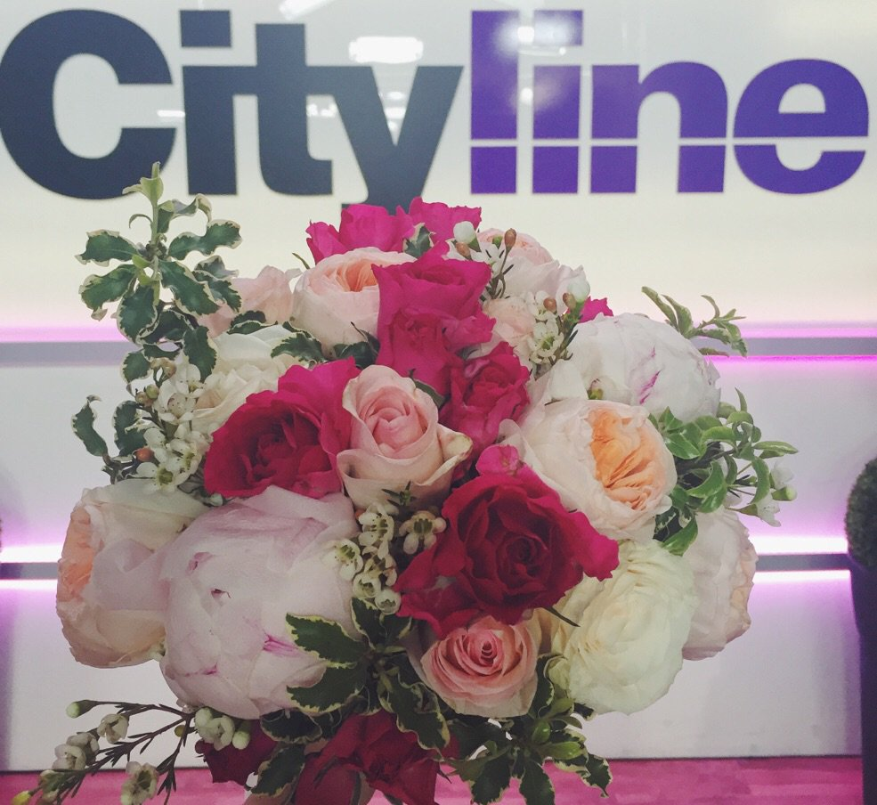 On @CitylineCA today talking #weddingtrends & more. @tracycityline & I had tons of fun! Flowers @delightfloral