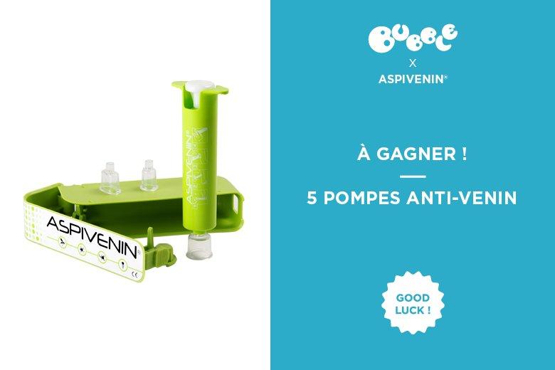 À gagner : une pompe Aspivenin®, l'astuce pas bête contre les piqûres de bébêtes ! https://t.co/27fd6iTniG https://t.co/plUdnvU6Nk