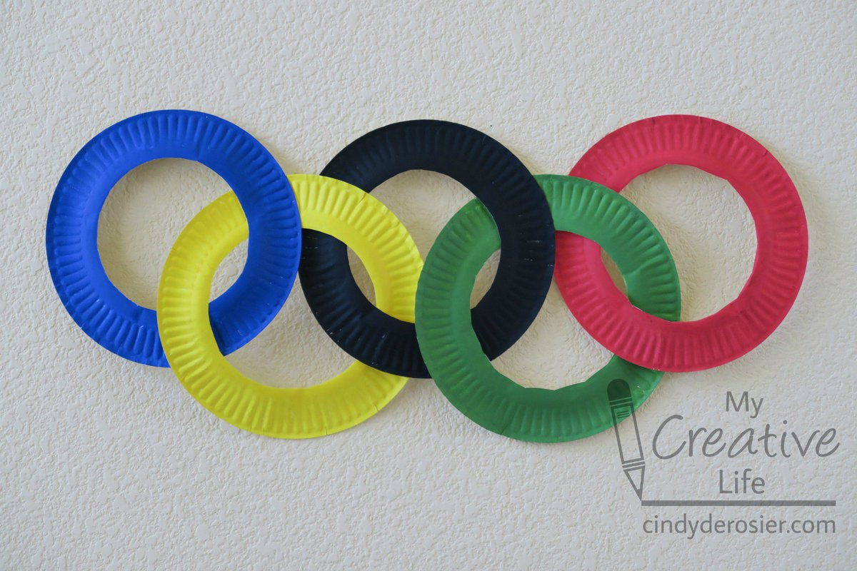 Mariah Moon on Twitter  Paper Plate Olympic Rings #Craft to make with the kids! #olympics //t.co/Cfgla85W65 via @FunFamilyCraftsu2026   & Mariah Moon on Twitter: