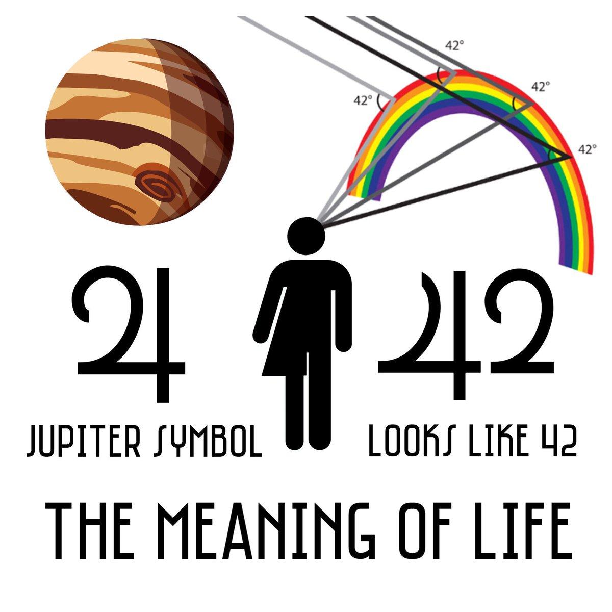 Mushboom On Twitter Jupiters Symbol Looks Like 42 The Angle At