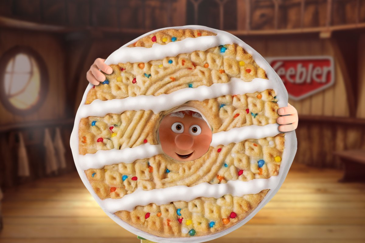 Ernie Keebler On Twitter With Birthday Cake Fudge Stripes It Can
