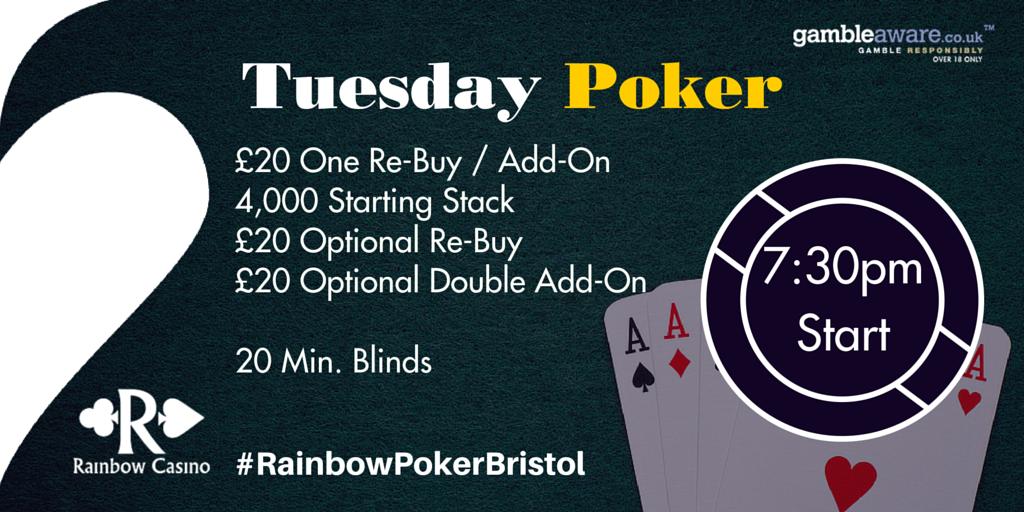 Rainbow casino poker schedule gambling soj