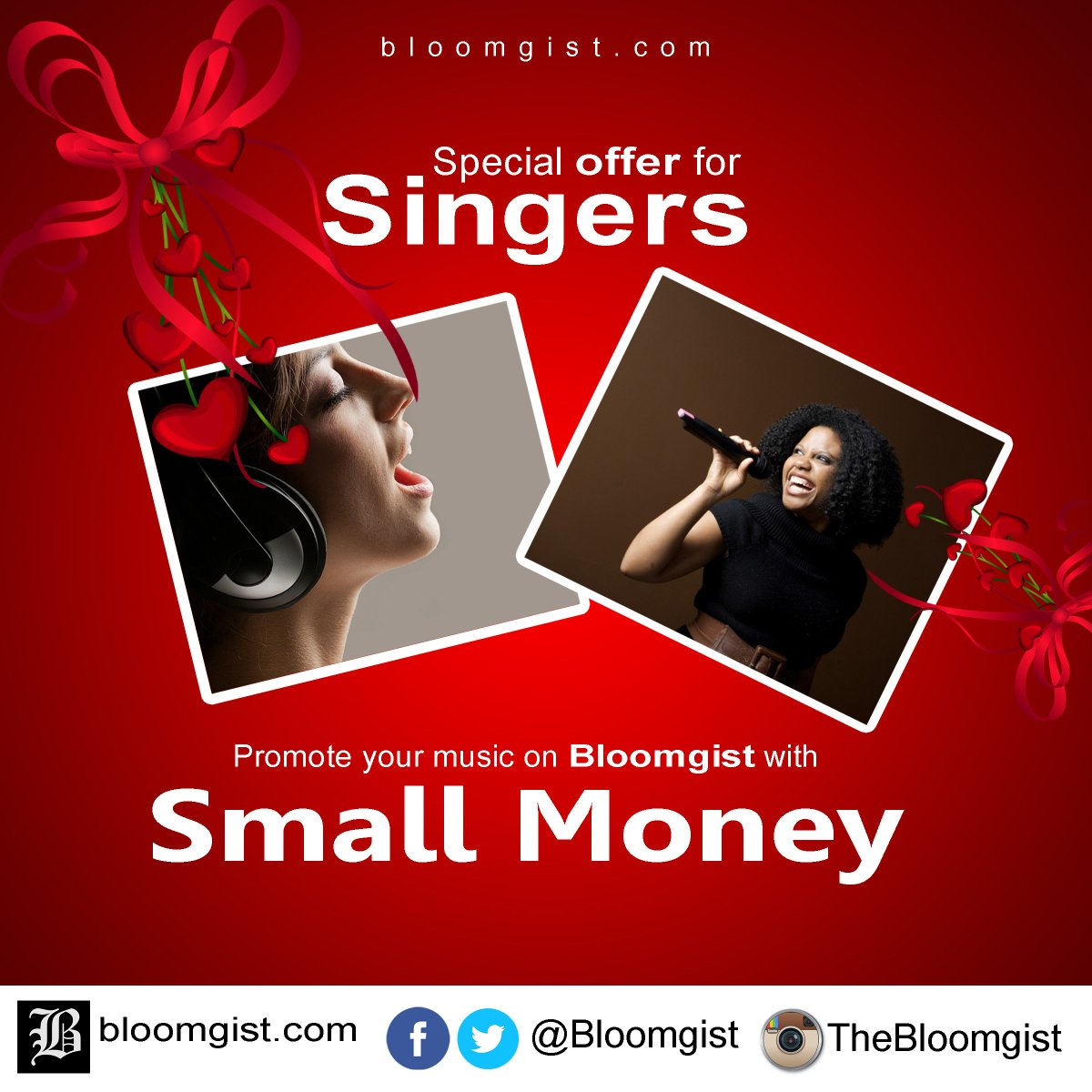 Promote music on Bloomgist