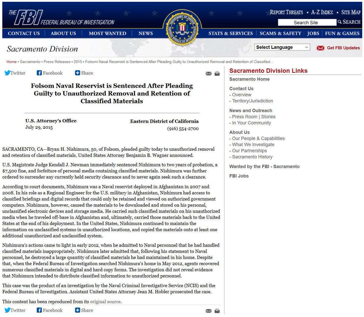 Hey @FBI it seems you made a mistake when charging Bryan Nishimura