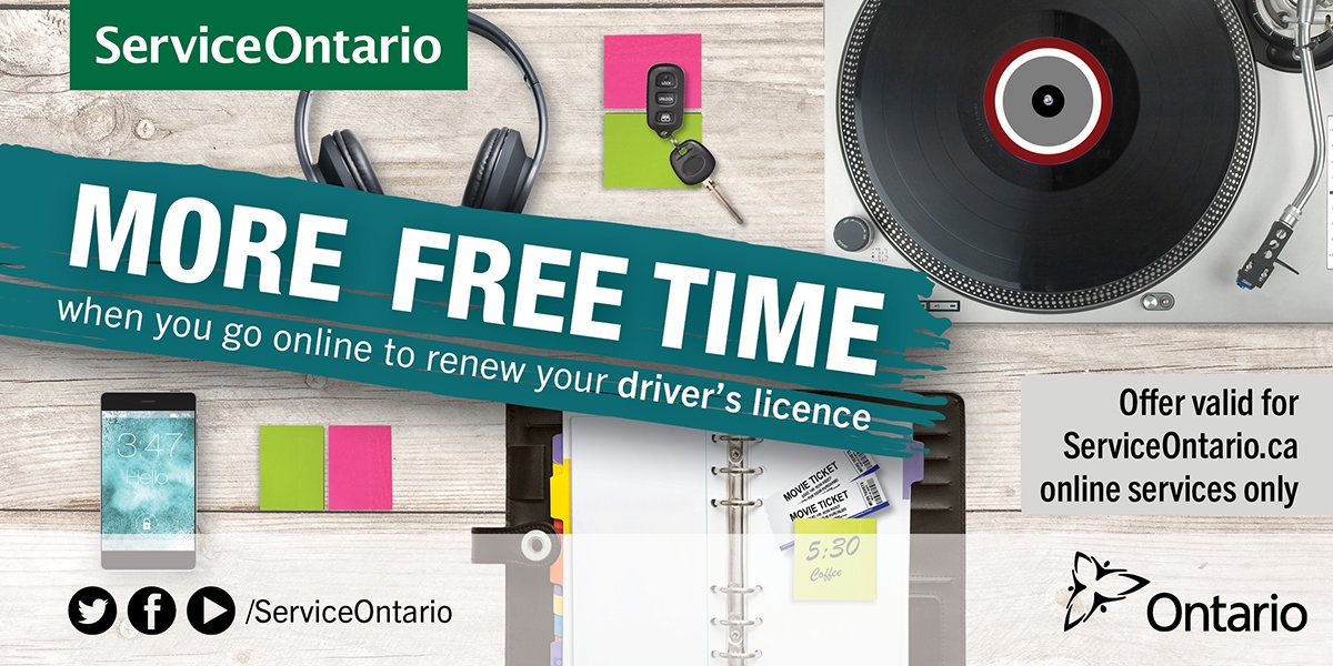 renew ontario drivers license online
