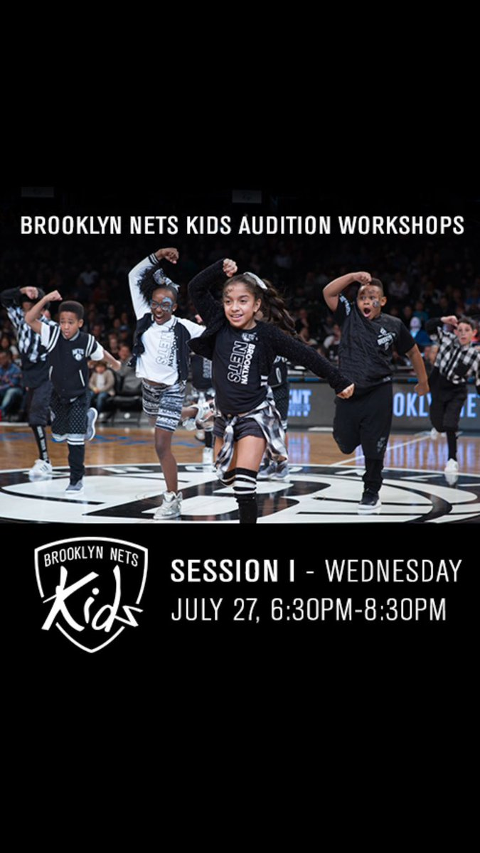Our first Brooklyn Nets Kids Audition Workshop is WED JULY 27, 6:30PM-8:30PM. Visit https://t.co/JQ4GnjI9q1 now. https://t.co/bKNIrz8RND