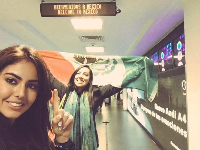 Ya llegaste @SetarehKhatibi ahora voy yo saliendo!! Allá nos vemos #MÉXICO HERE WE COME ??✈️?? https://t