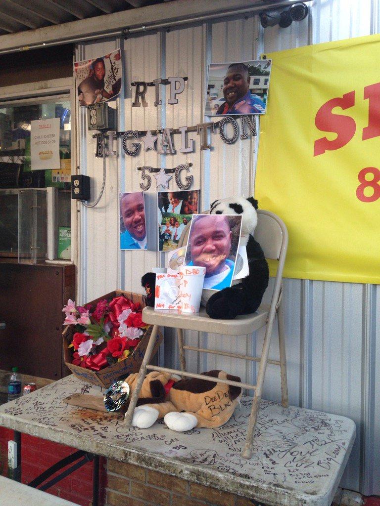 Makeshift memorial for Alton Sterling