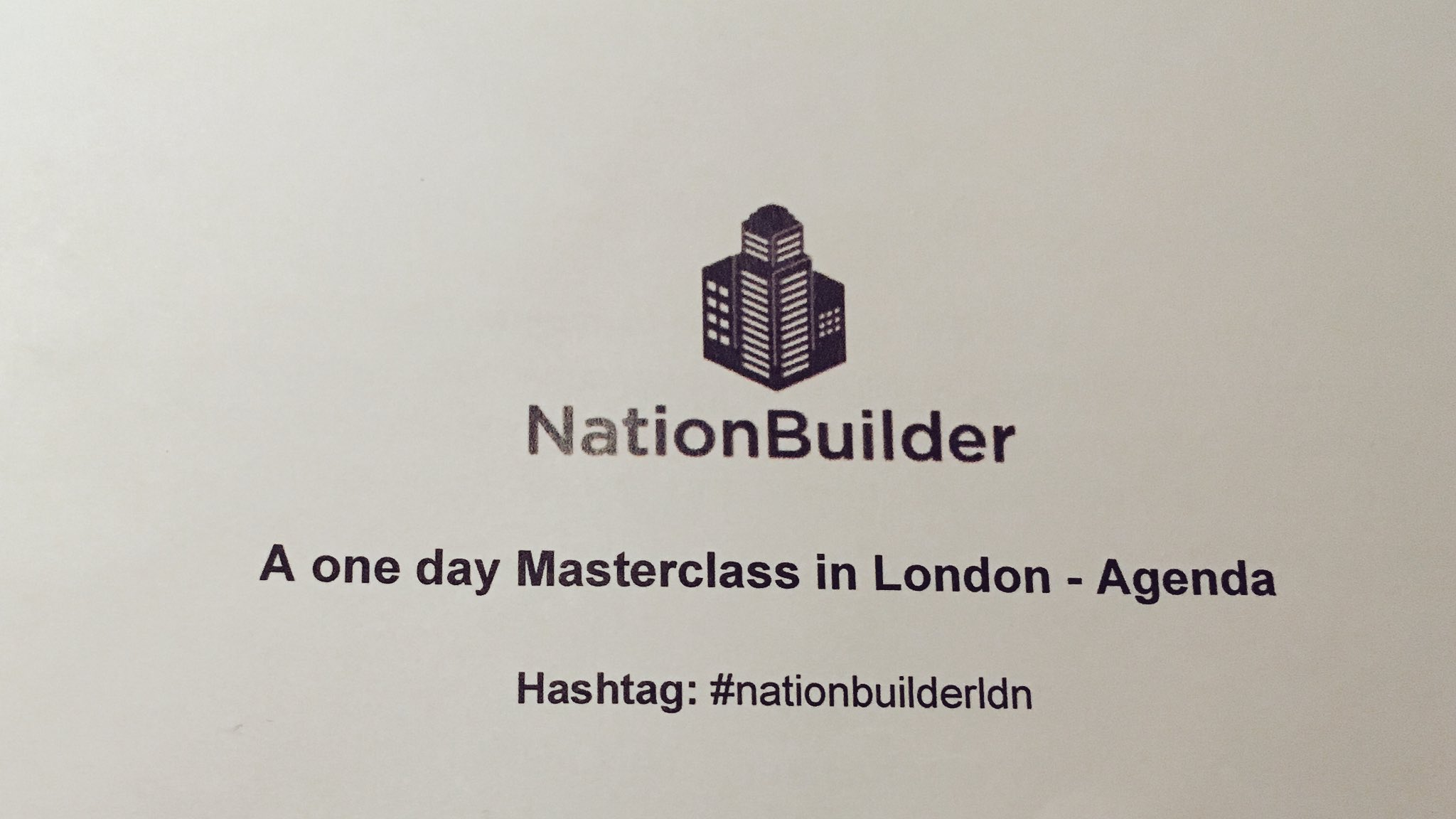 Excited to be here to learn more digital PA today at #nationbuilderldn https://t.co/zyjtAjR8bt
