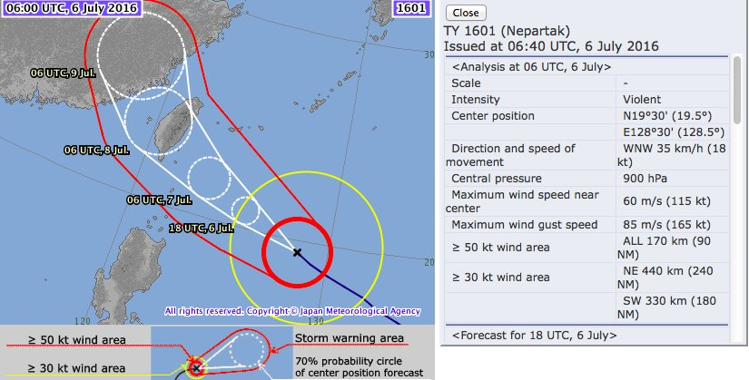 Taiwan China standby Violent Typhoon Napartak looms Pacific