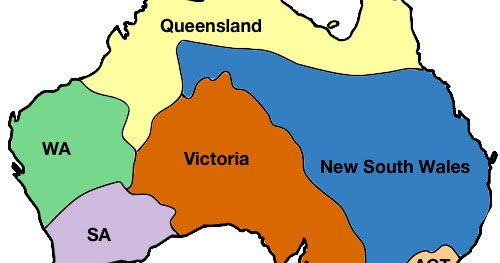 Australia Map States And Territories.Vivid Maps On Twitter Australian States Territories Sized By