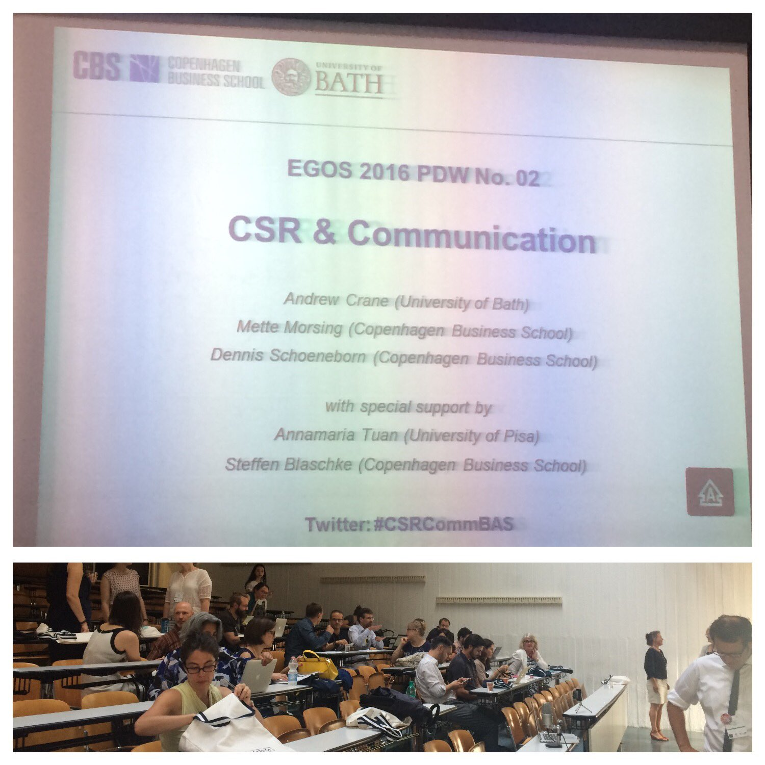 Ready to start #CSRCommBAS #Egos2016 https://t.co/SiOZfGgvfA
