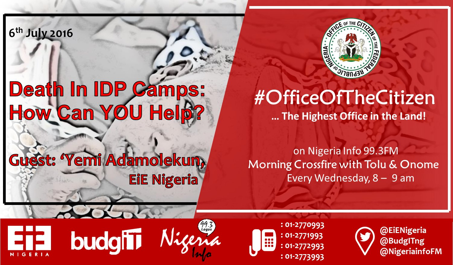 Thumbnail for #OfficeOfTheCitizen: Deaths in IDP Camps: How Can YOU Help?