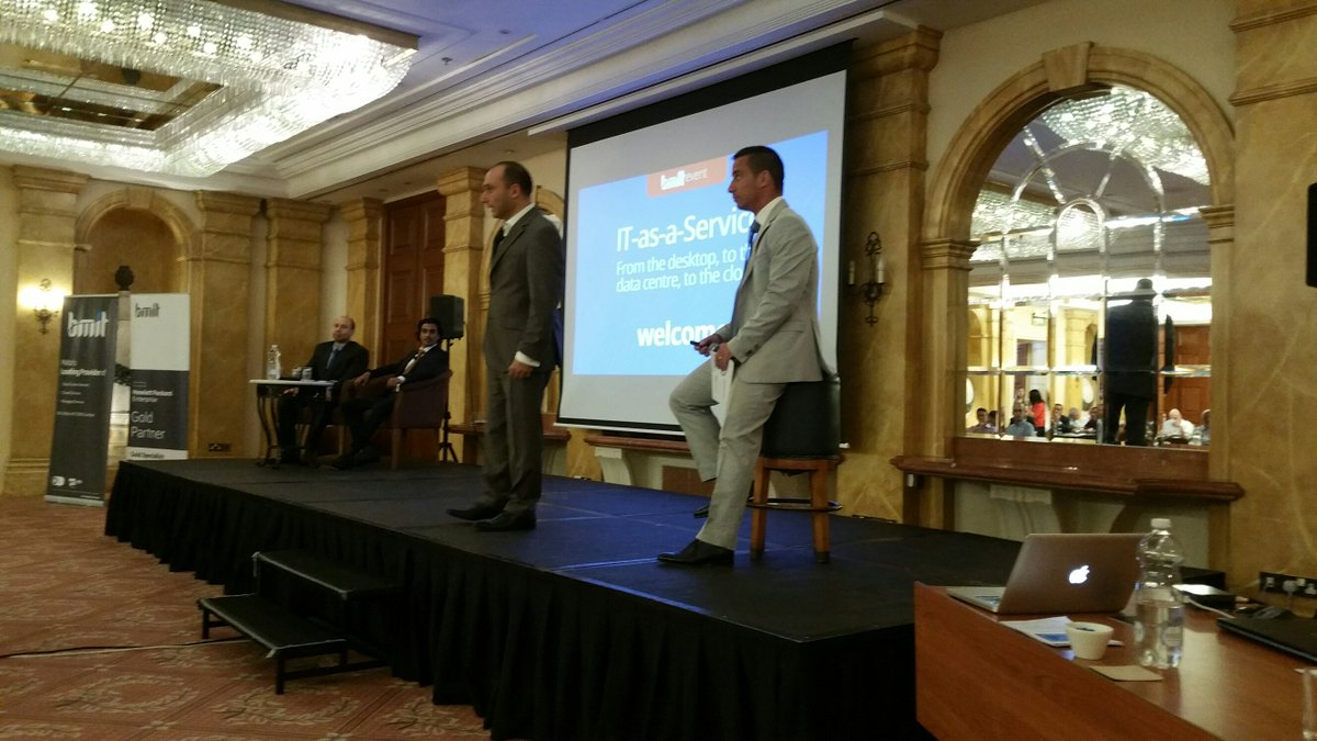 CMO Jack Mizzi and CCO Nick Tonna kick off today's event. #ITaaS #BMIT https://t.co/FKlTvcvFzK