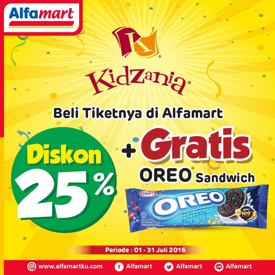 Alfamart On Twitter Beli Tiket Kidzania Di Disc 25 Gratis Oreo Sandwich