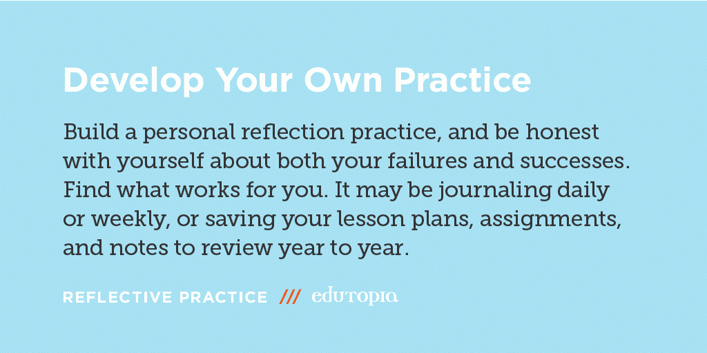 Tips for using reflection as a tool for #assessment, empowerment, and self-awareness: https://t.co/G1aiG9BP8N. https://t.co/BEXH5INMf7