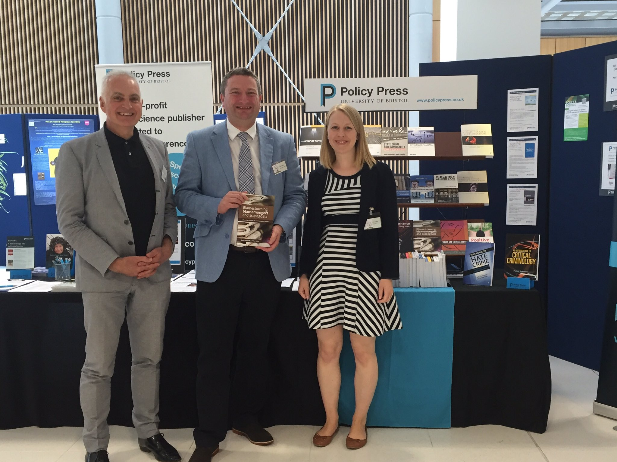 With @TimHillier @TPPvictoria @policypress who published our Blamestorming book #BSCConf16 @DMULawSchool https://t.co/YDor24cLuS