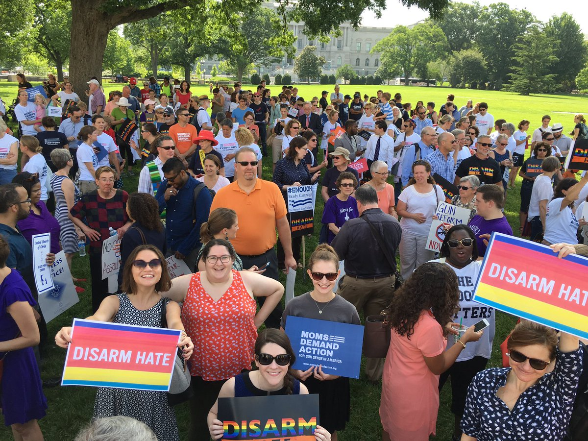 Team GP is joining the crowd outside of the Capitol building demanding #NoBillNoBreak and #DisarmHate. https://t.co/vIhdx8Aexq