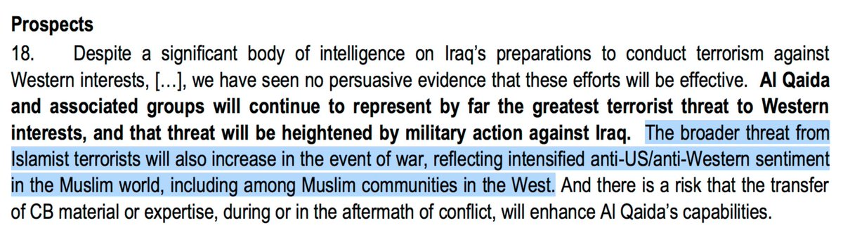 Always remember that when Bush & Blair invaded Iraq, they did it with the knowledge it would cause terrorism https://t.co/UQjspszdsT