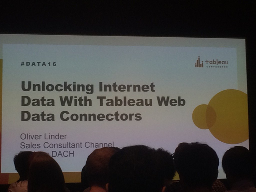 Seen at #data16 : no better way into #BigData than with @tableau 's webdata connector