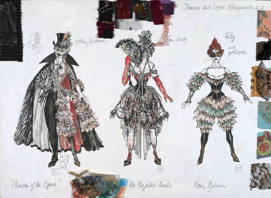 Disseny dels figurins per a 'The Phantom Of The Opera'.
