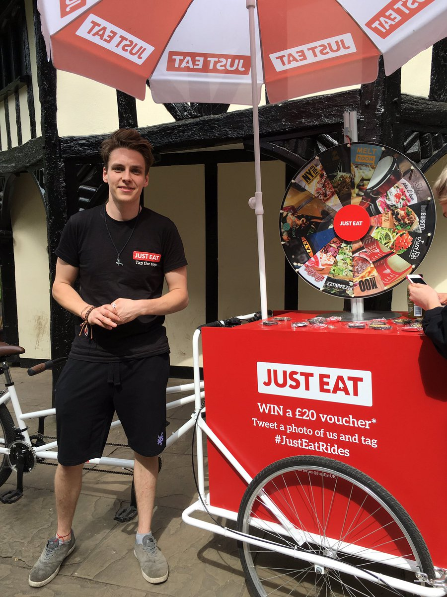 Head to Soho Square & grab some free @JustEatUK vouchers! #fdbloggers