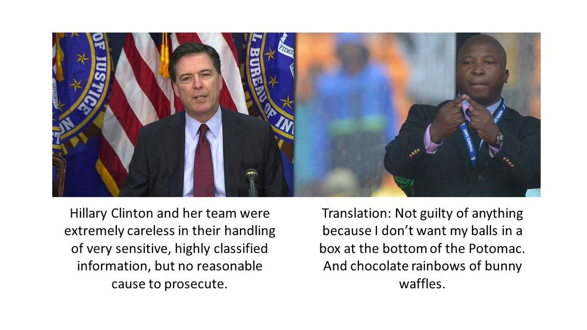 I found a translation of Comey's remarks that might prove helpful. https://t.co/7V1rJS0eMR
