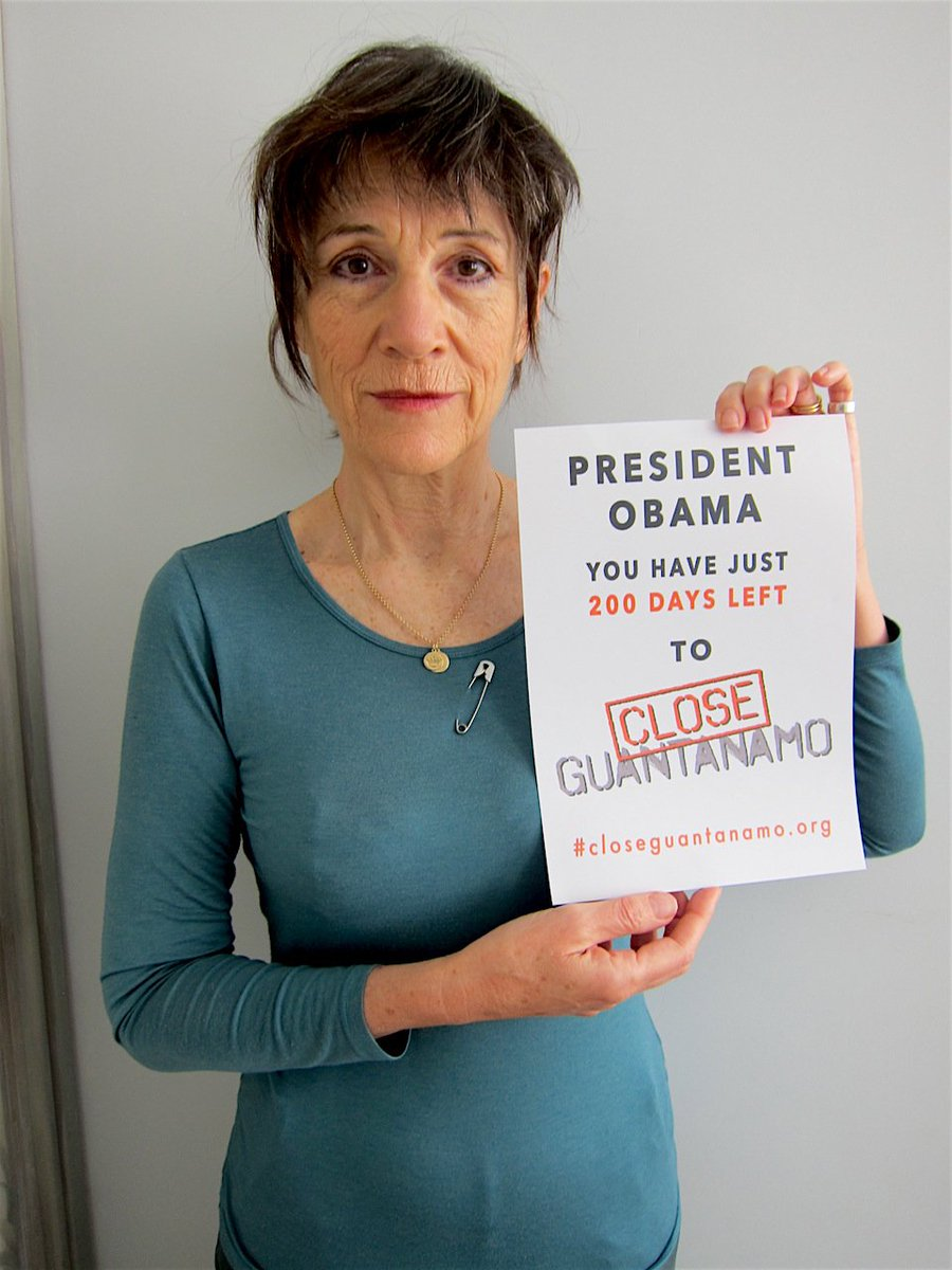 Close Guantanamo On Twitter Actress Harriet Walter Supports