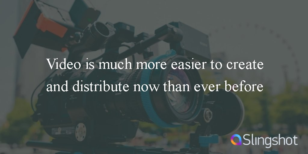 Video is much more easier to create and distribute now than ever before!#StartupChats #VideoMarketing https://t.co/YYaCbgwbV9