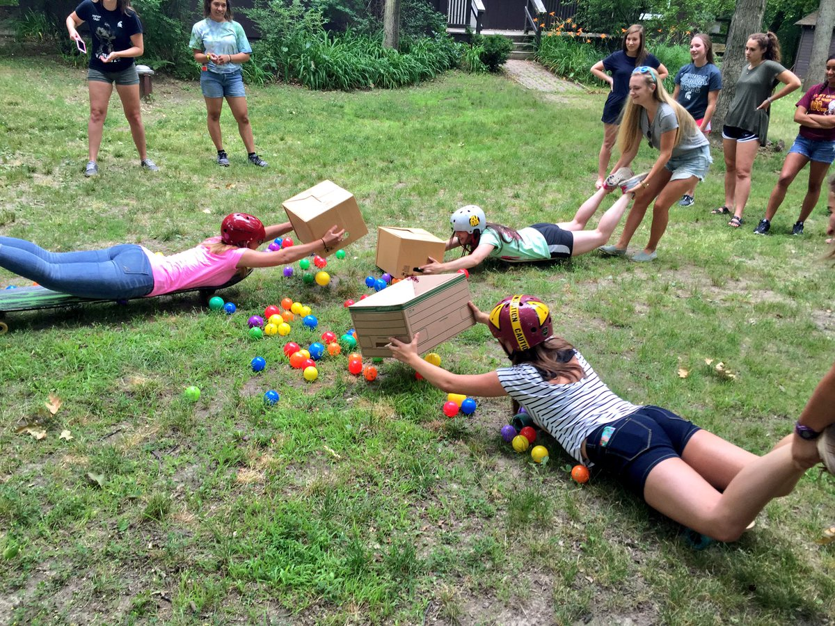 Human hungry hungry hippos is the perfect game for Fall outdoor activities for adults