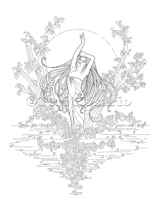 Teri Rosario On Twitter Finished A 2nd Mermaid For The Enchanted Sea Coloring Book Coloringbook Tco J8fb3mLsuK