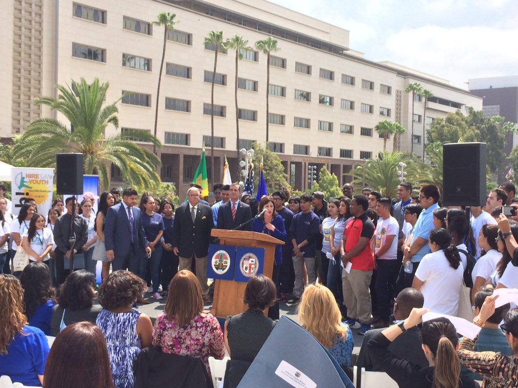 .@HildaSolis continues to emphasize our commitment to 15k jobs for our LA region youth! #careers