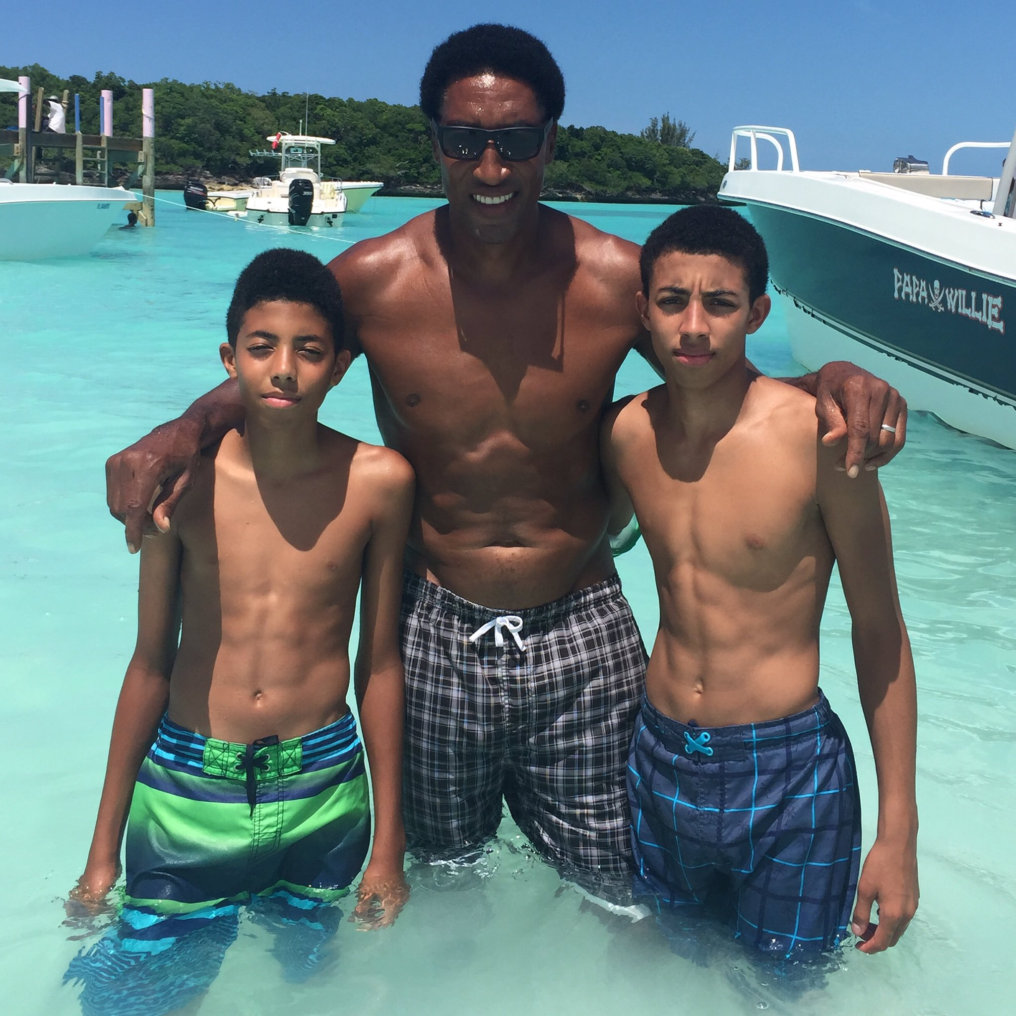 "Scottie Pippen on Twitter ""Bahamas with my boys Preston and"
