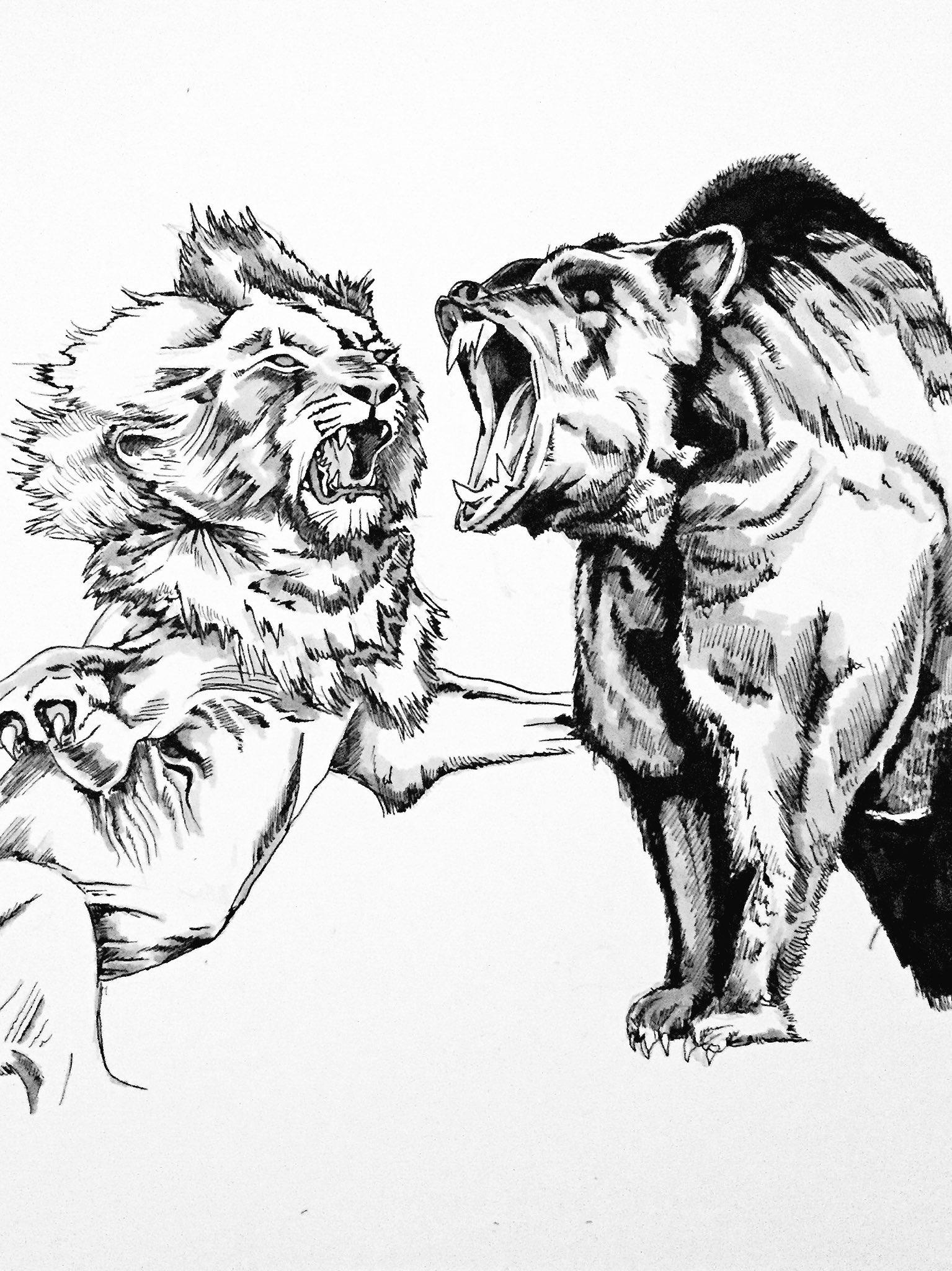 лев и тигрица картинка черно белая дом переходит немцу-аристократу