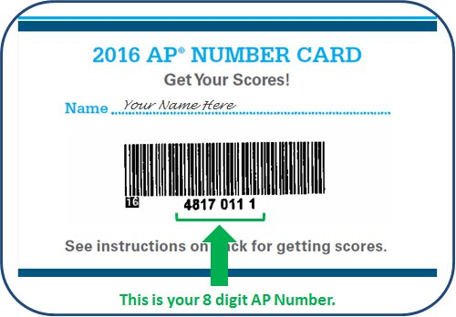 You can find your AP number on the labels you received in your AP Student Pack https://apstudent.collegeboard.org/help#faq19