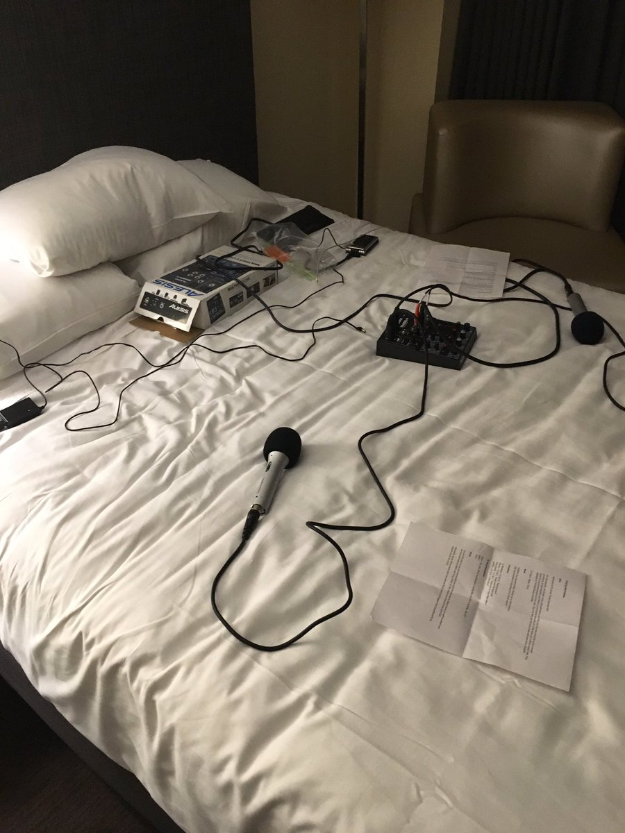 When you walk into your hotel room at #PM16, and you know that you are definitely at a podcast conference! https://t.co/nKnN6ZJkq5