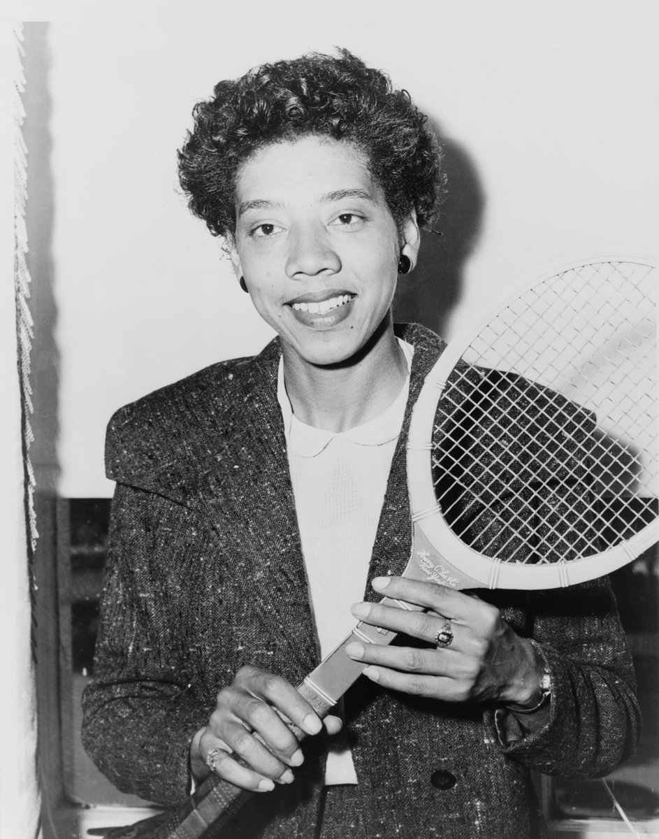 #OnThisDay in 1957 Althea Gibson becomes the first African American to win #Wimbledon #OTD https://t.co/W7kwF7pNef